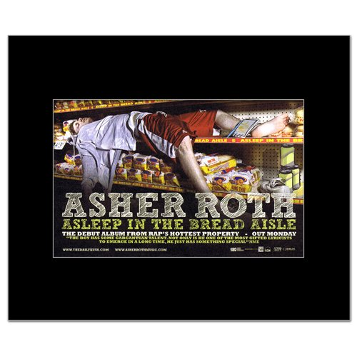 Music Ad World Asher ROTH - Asleep in The Bread Aisle Mini Poster - 21x13.5cm