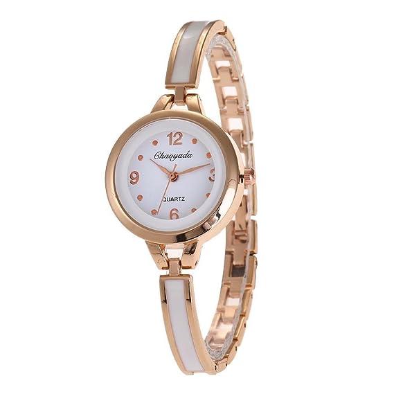 YAZILIND de cuarzo reloj de pulsera ronda reloj de titanio correa de acero para las niñas