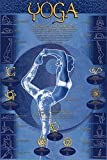 Yoga, Postures And Chakras Poster 24 x 36in