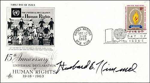 Admiral Husband E. Kimmel - First Day Cover Signed