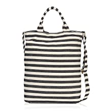 Hynes Eagle Canvas Tote Bag for Women Designer Beach Bags and Totes top handle Shopping bags Casual Shoulder Bag for Work Sailor Stripe