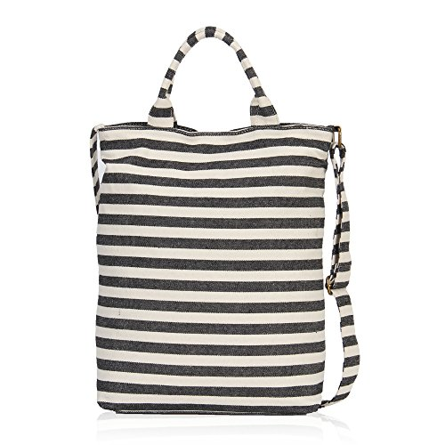 Hynes Eagle Designer Handbags for Women Canvas Top Handle Shoulder Purse Bag Casual Daily Totes Sailor Stripe - Recycled Canvas Tote Bags