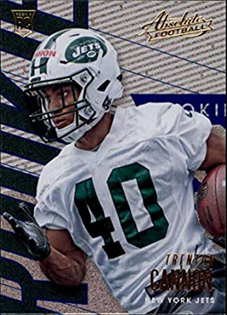 2018 Absolute Football Spectrum Blue  123 Trenton Cannon Rookie New York  Jets Official NFL Trading c49c96ce9