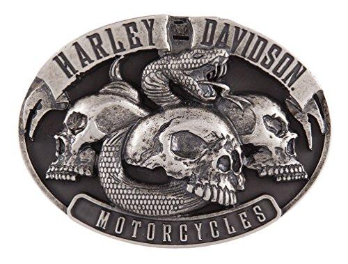 Harley-Davidson Men's Venom Belt Buckle, Antique Nickle Finish - Antique Finish Belt Buckle