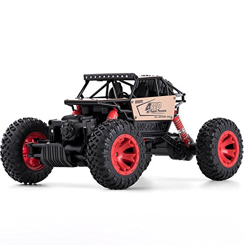 RC Cars for Boy Gift - Remote Control Car Road Vehicle Toys for Boy 1: 16 Racing Car 4 WD Rally RC Car Rock Crawlers Gifts for Boys/Girls