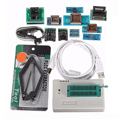 ランフィー TL866II USB ミニプロプログラマ10個のアダプター EEPROM フラッシュ 8051 AVR MCU SPI ICSP -   B07B95NH56