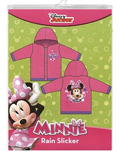 Disney Minnie Mouse Girls Rain Slicker Raincoat Going Dotty (medium 4/5) (Slicker Raincoat)