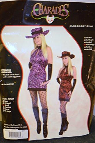 Charades Mac Daddy Diva Costume NIP Hot Purple (Mac Daddy Costume)