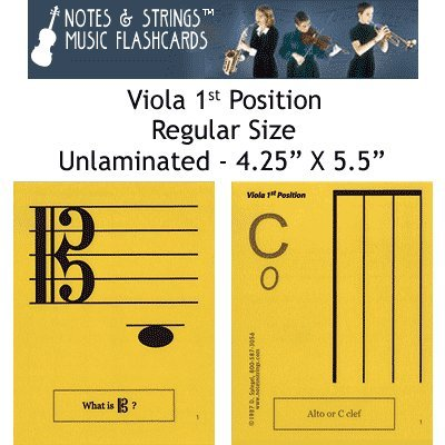 Notes Strings Position Regular Flashcards product image