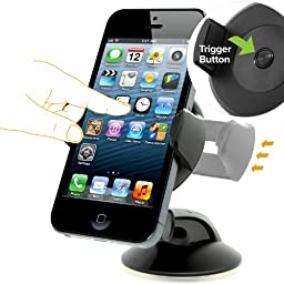 iOttie Easy Flex 3 Car Mount Holder for iPhone 7/6s/6, Samsung Galaxy S8 Edge S7 S6 - Retail Packaging – Black