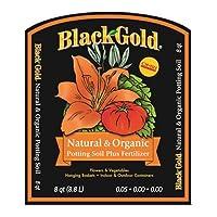 Sun Gro Black Gold 1302040 8-Quart All Organic Potting Soil