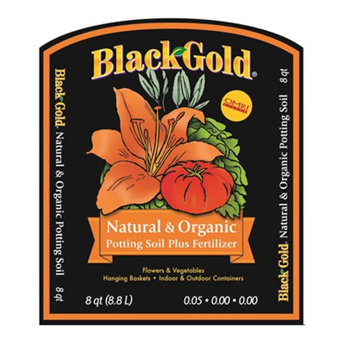 best potting soil for tomatoes - Black Gold 1302040 8-Quart All Organic Potting Soil