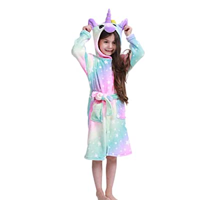 Kids Plush Bathrobe Sleepwear, Children Cosplay Animal Costume Sleepwear for Girls Gift: Clothing [5Bkhe0305415]