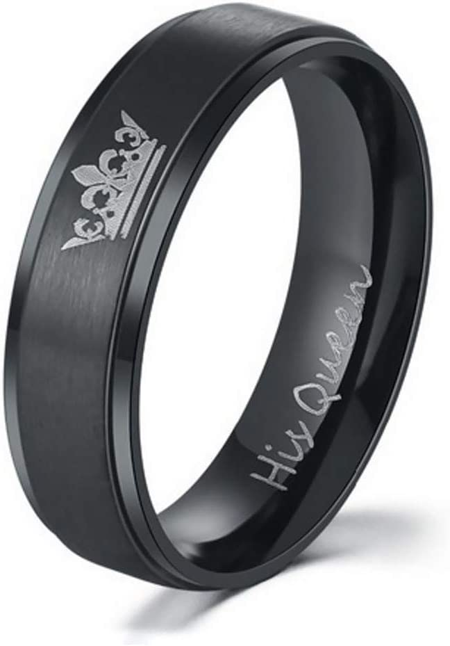 Amazon Com Gertong 1 Pcs Couple Rings His Queen And Her King Ring
