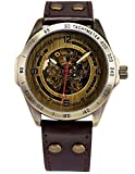 AMPM24-Vintage-Bronze-Case-Automatic-Mechanical-Skeleton-Brown-Leather-Band-Mens-Sport-Watch-PMW368