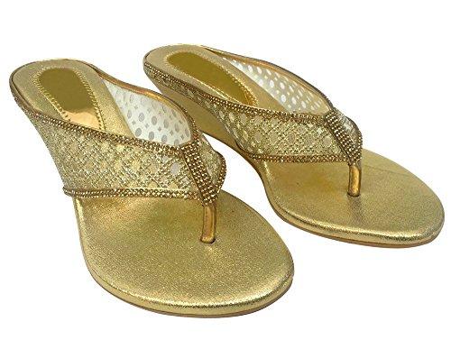 La Or Style De Demoiselle Perle À De Plates N Chaussures Mode Femmes De Mariée Talons De D'honneur Étape Bas Bal Hqxntf15