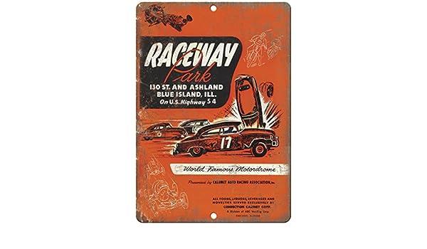 "Raceway Park Calumet Auto Racing Association 10/""X7/"" Reproduction Metal Sign A534"