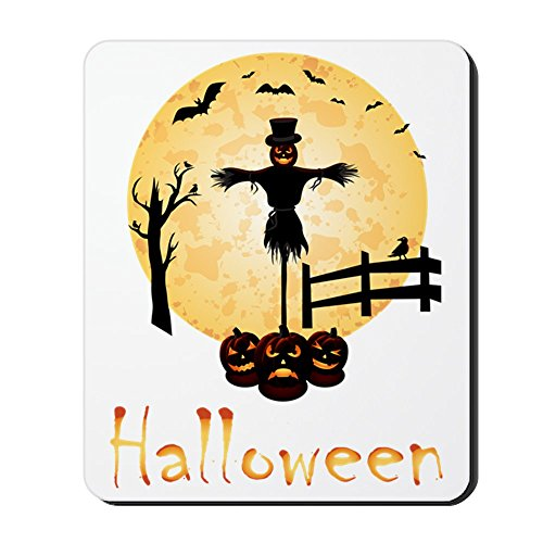 [CafePress - halloween100 Mousepad - Non-slip Rubber Mousepad, Gaming Mouse Pad] (Cute Scarecrow Costumes)