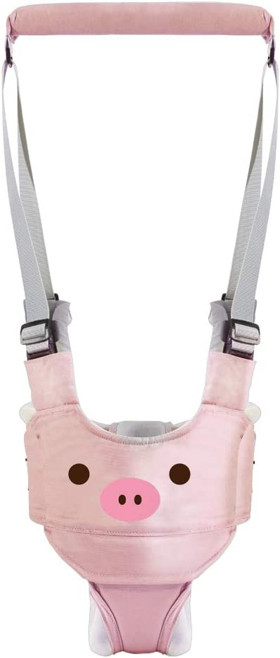 Arnés de Seguridad para Caminar Ajustable Arnés de Bebe a Pie de Caminado Aprendizaje Chaleco Arneses para Niños Andador Arnés Tirantes Con Correa y Hebilla de Bebé Protección 6-27meses-(rosado)