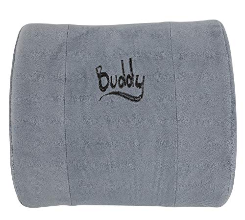 - Buddy Lumbar Support Pillow - Office Chair & Car Seat Cushion Therapeutic Grade Memory Foam W/Adjustable Back, Removable, Washable Cover, Carrying Case, Back Pain Relief Guide, and Care Instructions