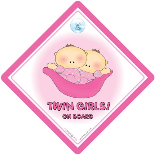 Baby on Board Baby On Board Sign Twins Car Sign Twins On Board Car Sign Twins on board Baby Car Sign, Pink Peapod Twin Girls on board Bumper Sticker Baby On Board Twins On Board Car Sign Vehicle Sign Driving Sign Car Sign Automobile Sign