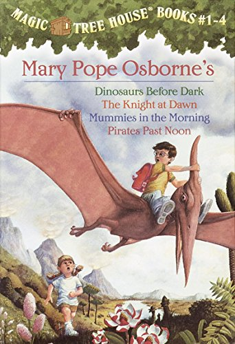 Magic Tree House Boxed Set, Books 1-4: Dinosaurs Before Dark, The Knight at Dawn, Mummies in the Morning, and Pirates…