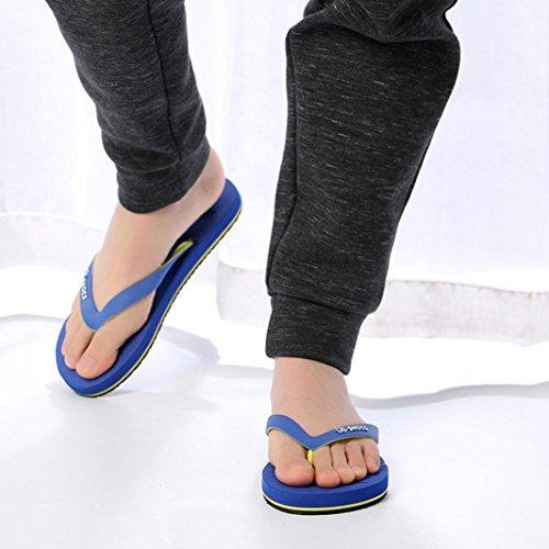 Fheaven Heren Sandalen | Heren Klassieke String Sandalen Strand Flip-flop Slippers Blauw