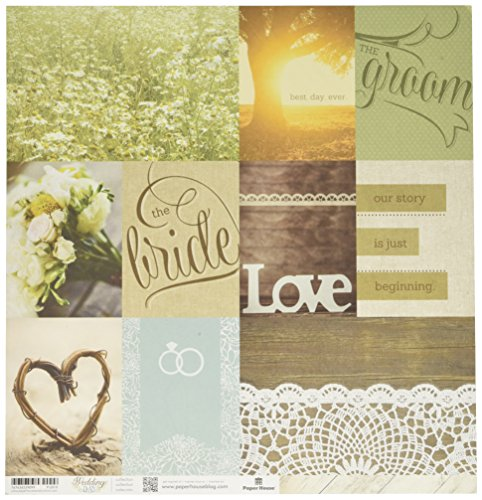 Paper House Productions P-2010E Double Sided Wedding Day Tags Paper (15 Pack), 12