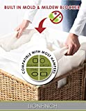 "4 Count Laundry Hamper Liners- BLOCKS Mold and Mildew. Extra Large 40"" Tall x 30"" Wide. Bright White Super Soft Canvas. Fits 5 Loads of Laundry. Easy to Wash and Dry. Proudly Made in California!"