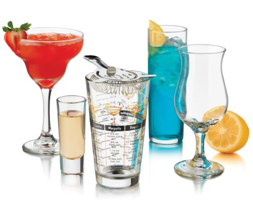 Libbey Bar in a Box Party Glass, 18-Piece, Clear