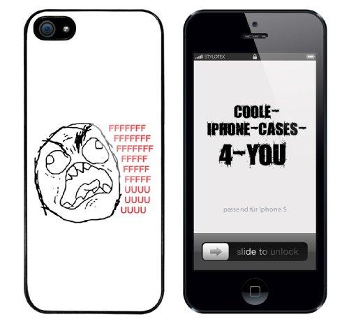 Iphone 5 Case FFFFFUUUU.... Rahmen schwarz