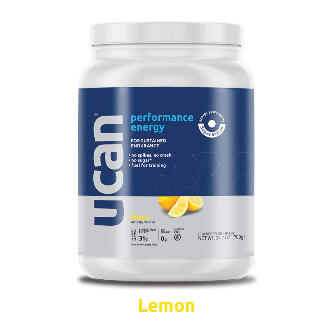 UCAN Performance Vegan Pre-Workout Energy Powder with SuperStarch - No Added Sugar, Gluten Free, Keto Friendly - Boost Endurance, Focus and Power (Lemon) by UCAN