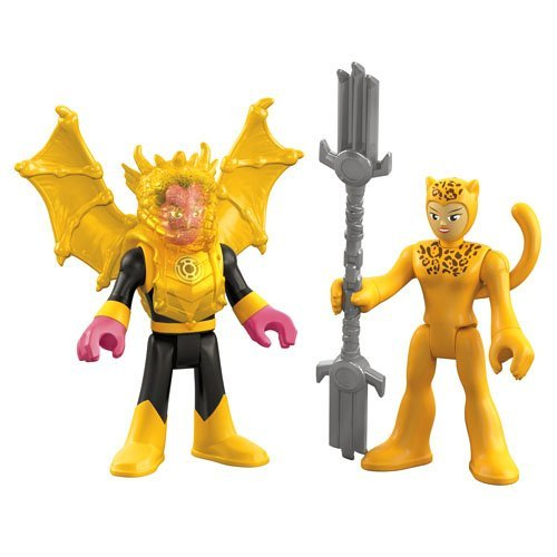 Imaginext, DC Comics Justice League, Cheetah and Sinestro Figures, 3 Inches