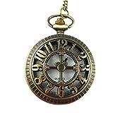 YouYouPifa Bronze hollow shell the carving cross Digital Quartz pocket watch