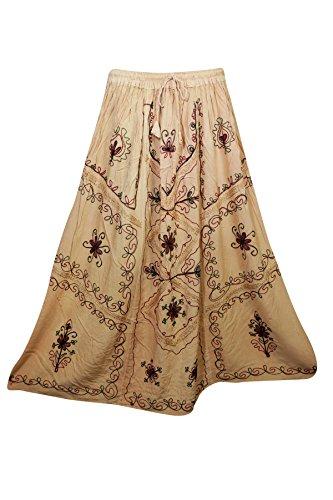 Mogul Interior Damen A-Linie Rock blau blau, A-Linie, Embroidered Skirt