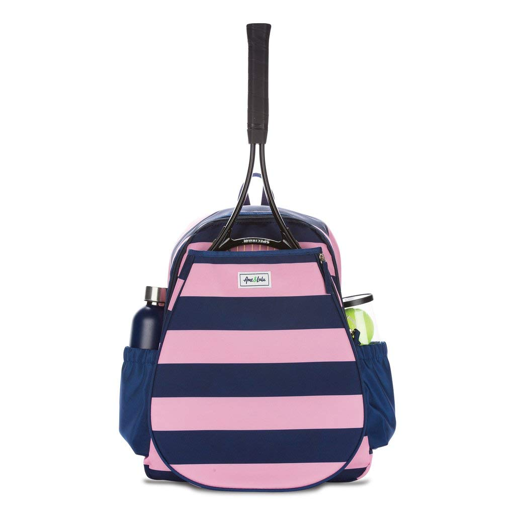 Ame & Lulu Game on Tennis Backpack (Bubbly), 12.5''L x 5.5''W x 17''H