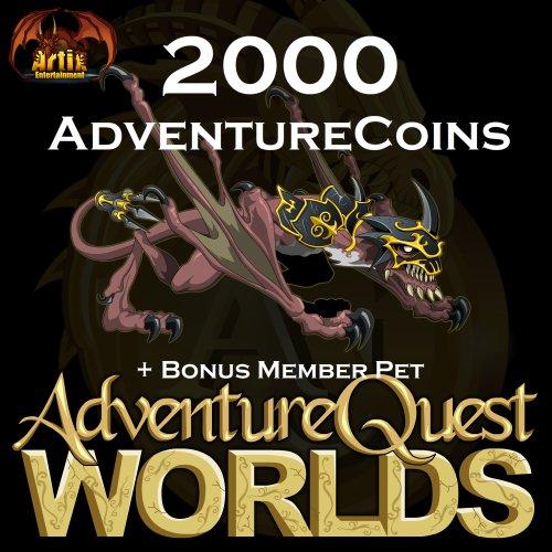 2,000 AdventureCoins Package: AdventureQuest Worlds [Instant ()