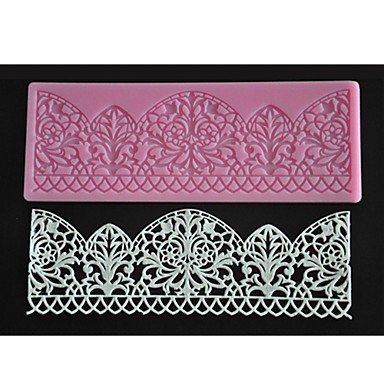 Party Supplies FOUR-C de encaje alfombrilla de silicona para horno decorar para Fondant Cake Molde Color Rosa: Amazon.es: Hogar