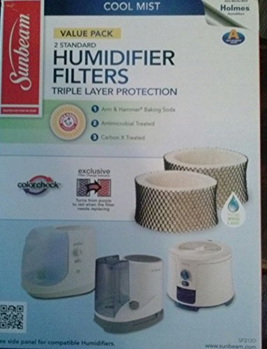 Sunbeam SF212PDQT2 WM Humidifier Filter 2pk product image