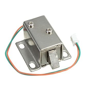 Diymore Dc 12v Electric Lock Solenoid Lock Tongue Upward Assembly