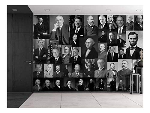 Peel and Stick Wallpapaer Presidents of United States Collage Removable Large Wall Mural Creative Wall Decal