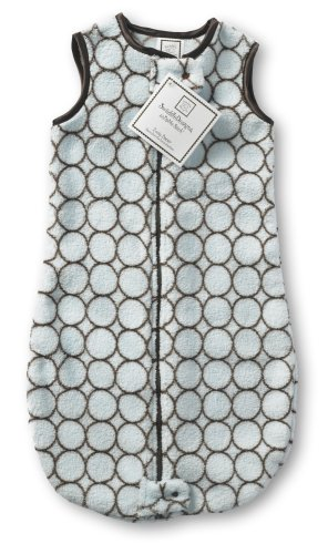 SwaddleDesigns Essentials, Set of 8 - Pastel Blue with Chocolate Brown by SwaddleDesigns (Image #5)