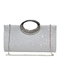 Labair Rhinestone Evening Purse Clutches for Women for Wedding Party Prom.