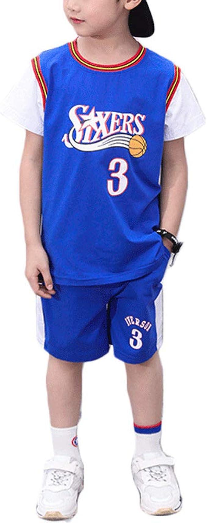 Philadelphia 76ers Allen Ezail Iverson 3# Chicos Baloncesto ...