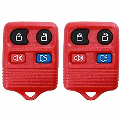 2 KeylessOption Red Replacement 4 Button Keyless Entry Remote Control Key Fob: Automotive