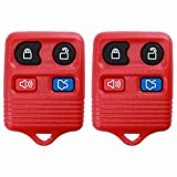 2 KeylessOption Red Replacement 4 Button Keyless Entry Remote Control Key Fob: more info