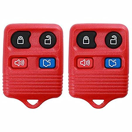2 KeylessOption Blue Replacement 4 Button Keyless Entry Remote Control Key Fob