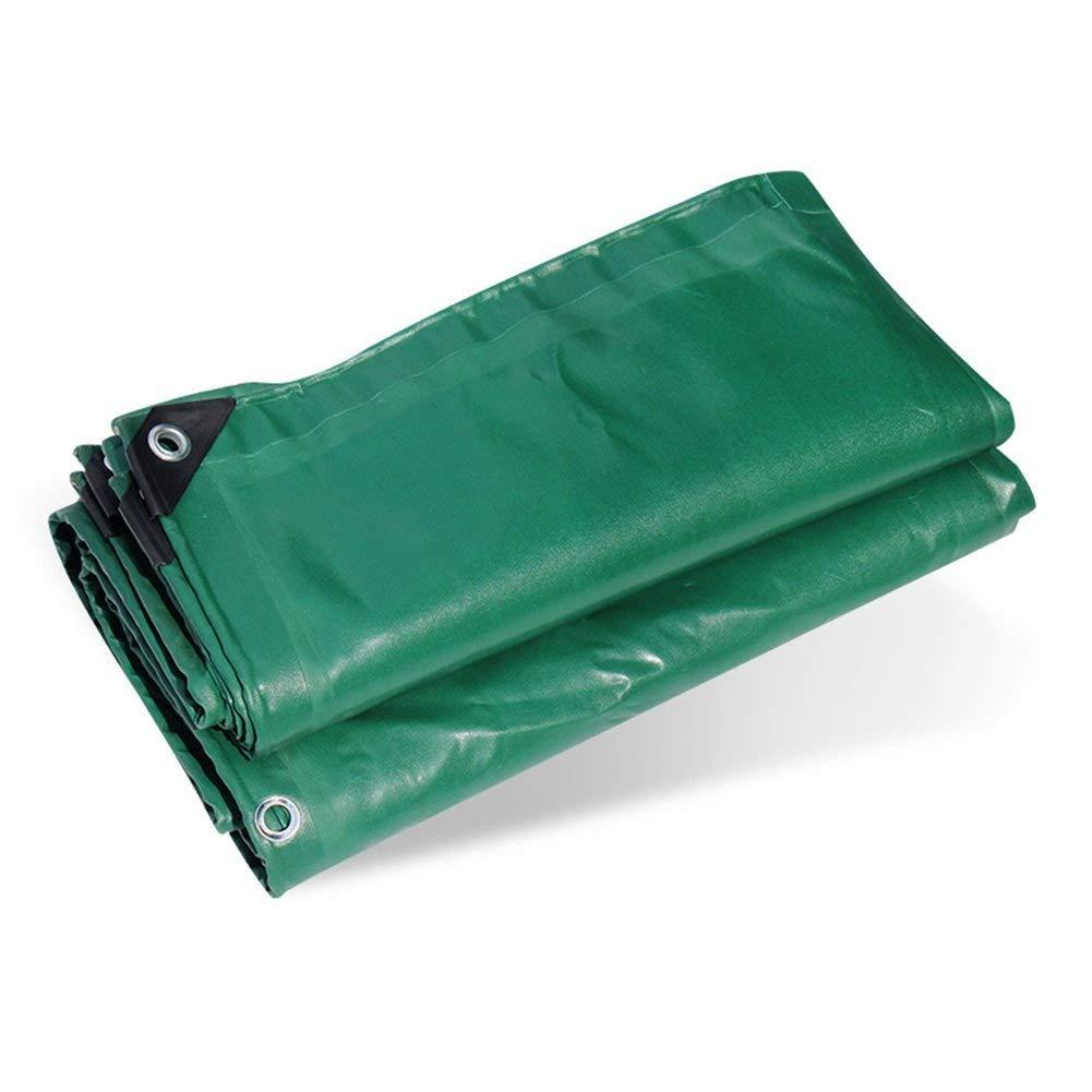 ターポリン アイレットが付いている頑丈な防水シート防水ポリ塩化ビニールの防水シートの陰のプラスチックテントの日除け布の地面シートカバー、650gramm / square、緑 (サイズ さいず : 4mx5m) B07RZMKKHC  4mx5m