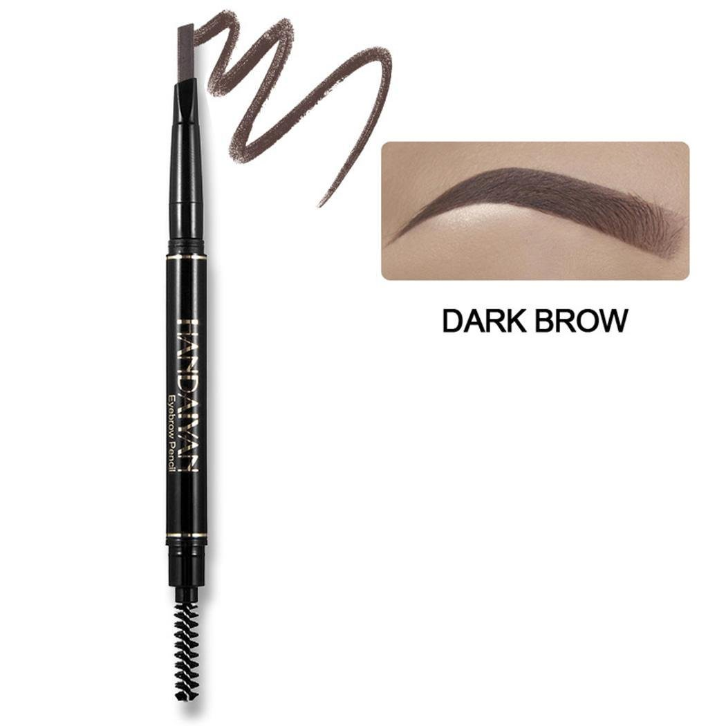 Youcoco Women Waterproof Automatic Eyebrow Pencil Eye Makeup Tool with Brush Liner & Shadow Combinations