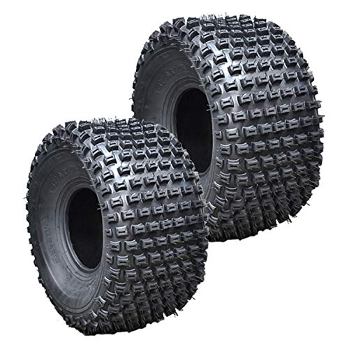 2PK Wanda Sport ATV 4 Wheeler Tires 22X11-10 22x11x10 Dimple Knobby 4PR (4 Tires Atv Wheeler)